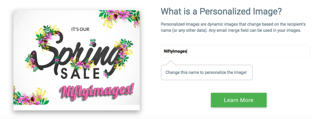 NiftyImages - Image personalization.png
